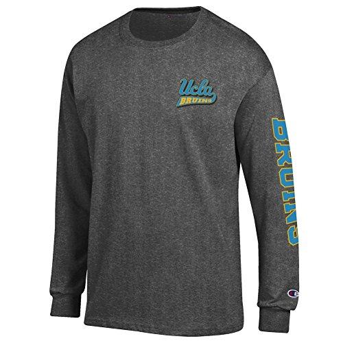 (Elite Fan Shop UCLA Bruins Long Sleeve Tshirt Letterman Charcoal - XL)