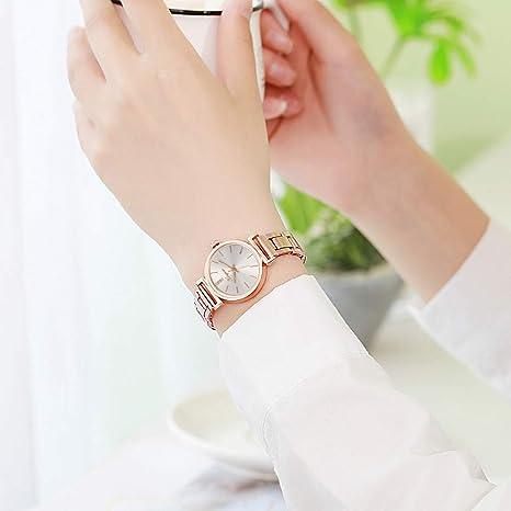 Amazon.com: Watch Bracelet for Womens Young Girls, Women Alloy Steel Belt Casual Watch Geneva Simple Steel Belt Watch (A): Automotive