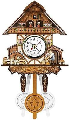 ZREAL Antigua Cuco de Madera Reloj Pájaro Tiempo Bell Swing Alarma Reloj casa Art Décor