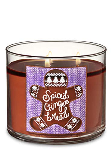 Bath and Body Works Spiced Gingerbread Scented 3 Wick Candle - Winter 2018