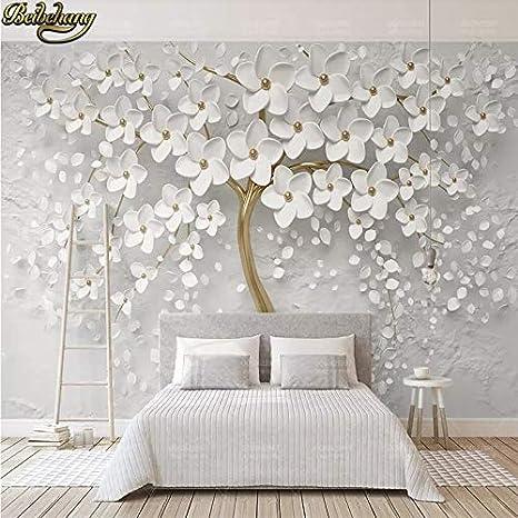 Buy Avikalp Exclusive Awz0336 3d White Bloom Flower Tree