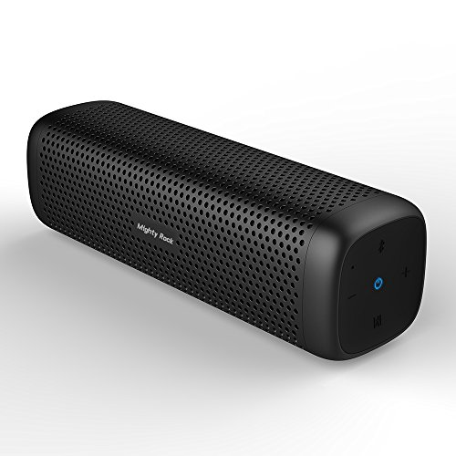 : Mighty Rock 6110 Bluetooth Speakers Portable Wireless Speaker with 16W Rich Deep Bass, 12 Hours Playtime and Strong Aluminum-Alloy Shell Support TF Card (Black)