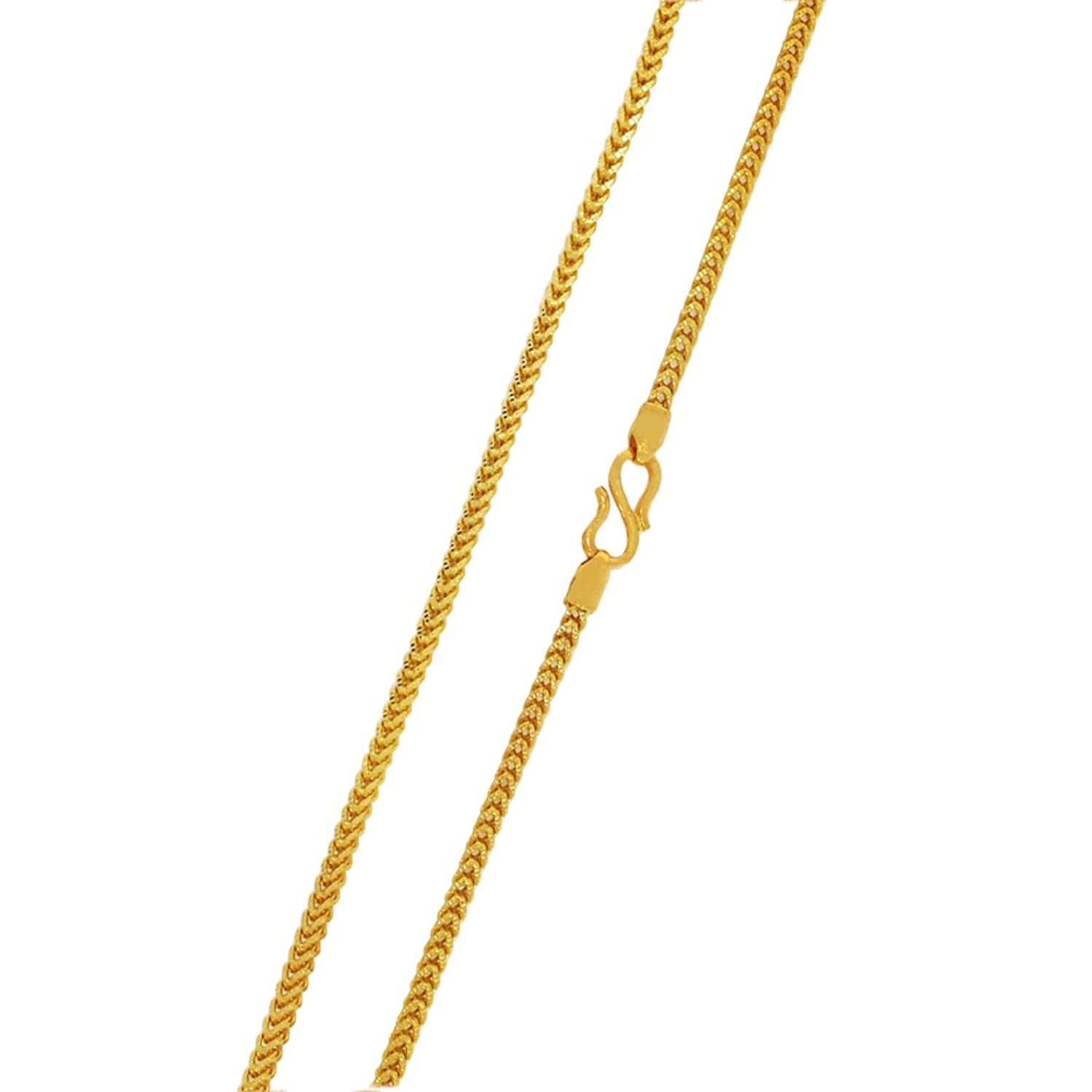 Buy Kalyan Jewellers 22KT Yellow Gold Chain for Women Online at ...