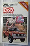 Chilton Repair Manual Toyota Trucks 1970-88