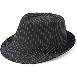 BABEYOND 1920s Panama Fedora Hat Cap for Men Gatsby Hat for Men 1920s Mens Gatsby Costume Accessories (Black-2)