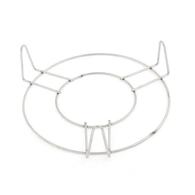 Amazon.com: eDealMax acero inoxidable 3 piernas Olla de Alimentos al vapor del estante 14.5cm x 4 cm: Kitchen & Dining