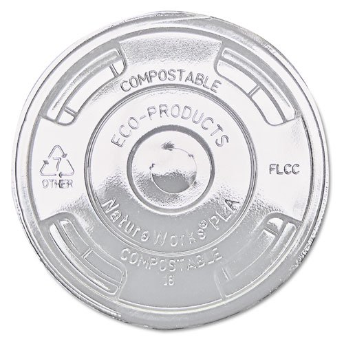 GreenStripe Renewable & Compost Cold Cup Flat Lids, F/9-24oz, 100 per Pack (Case of 10 Packs) ()