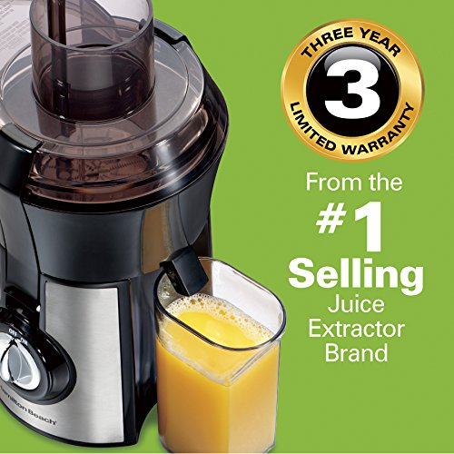 Hamilton Beach 67608A Juicer, Electric, 800 Watt, Easy to Clean, BPA Free, Large Silver