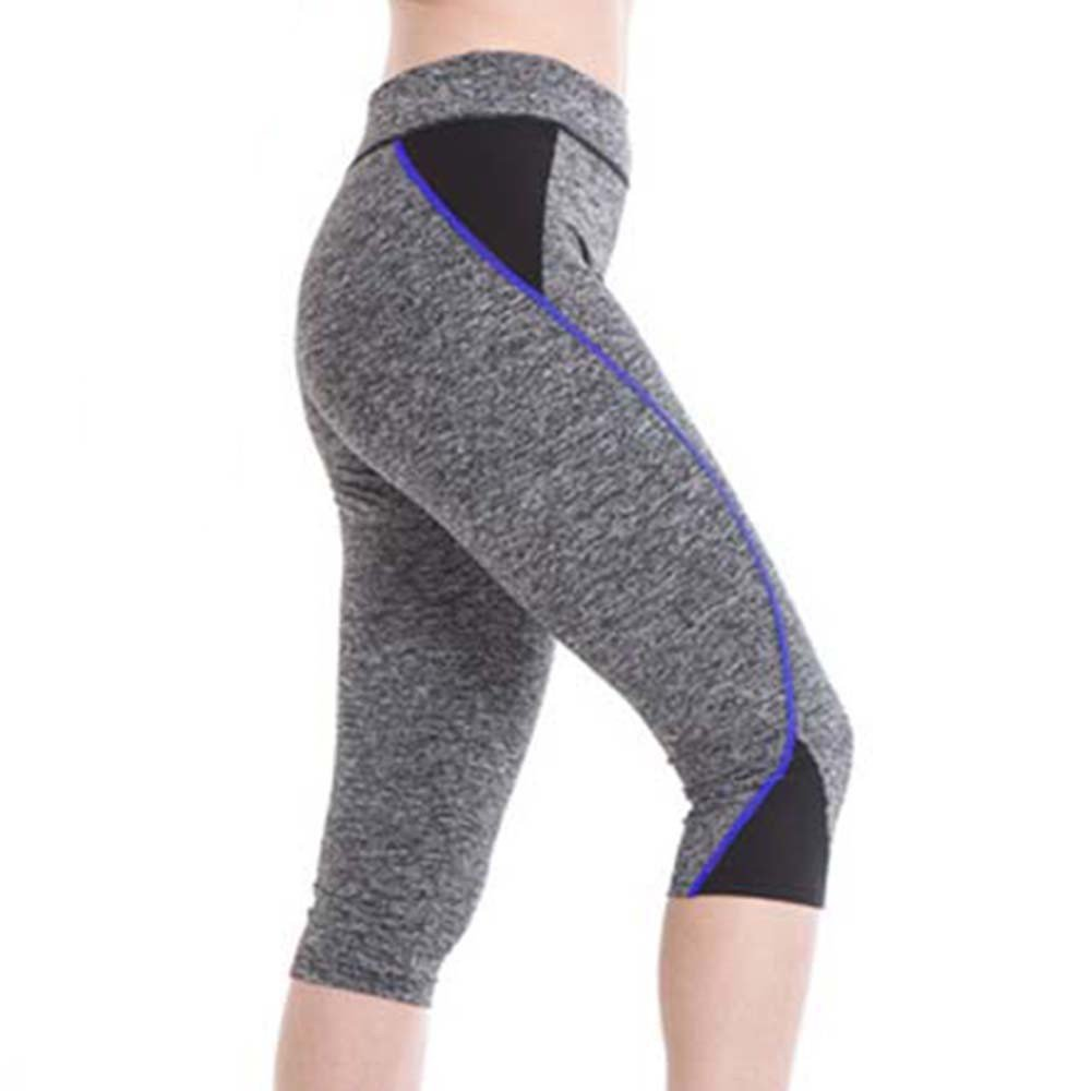 dda9a413500ad URIBAKE Women's Workout Leggings Mid Calf Soft Comfy Sports Slim Cropped  Pants Tight Yoga Pants at Amazon Women's Clothing store: