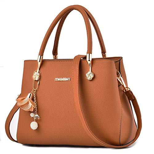 (WangWang Women Top Handle Handbags Satchel Tote Purse Shouler Bags Messenger Bags For Ladies)