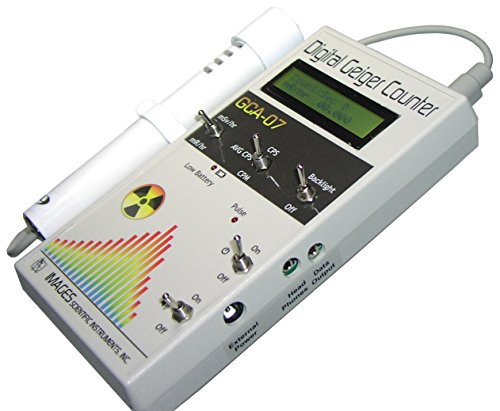 Radiation Detection Meter (GCA-07W Professional Geiger Counter Nuclear Radiation Detection Monitor with Digital Meter and External Wand Probe - NRC Certification Ready- 0.001 mR/hr Resolution -- 1000 mR/hr Range)