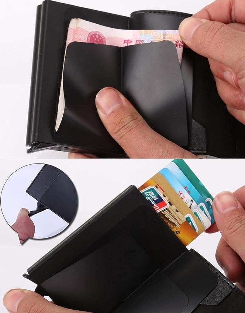 UNYU RFID Credit Card Holder Cartera para hombre Hombre