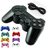 NCS Wireless Bluetooth Double Vibration Remote PS3 Controller for Playstation 3 (Black)