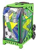 Zuca World Cup inspired Striker roller bag- choose your frame color! (green frame)