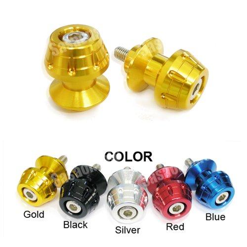 - MIT Motors - GOLD - 8mm Universal Swingarm Spools - SUZUKI GSXR 600 750 1000 1300 Hayabusa, TL1000S TLS, TL1000R TLR, Bandit, SV 650