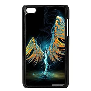 Jumphigh Angel Ipod Touch 4 Case Abstract Angel, [Black]