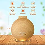 IpowerBingo 600ml Large Capacity Ultrasonic Cool Mist Humidifier, Essential Oil Diffuser Waterless Automatic Shut-off, 7 LED Light,Working Overnight for for Home Office Bedroom (Pale Yellow)