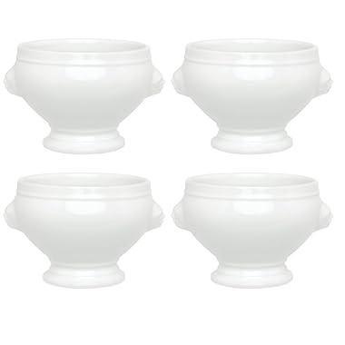 HIC Porcelain Lion's Head Bowl, 14-Ounces,Set of 4