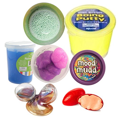 Kids Slime and Putty Toy Sampler Bundle - Tactile and Sensory Toys for Children by Curious Minds Busy Bags