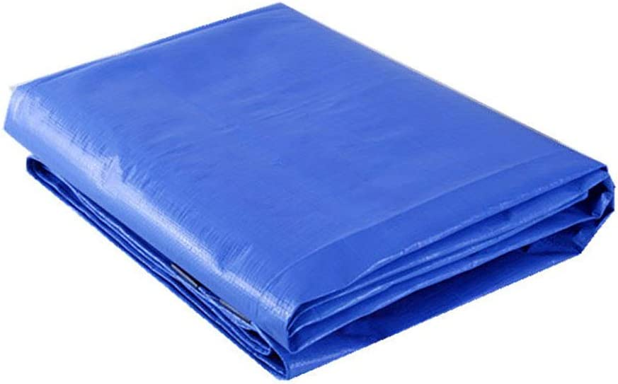 Size : 2x2M Tarps Thicken Tarpaulin Polythene Woven PE Truck Shed Insulated Rainproof Outdoor Sunscreen Tarp with Eyelets,160g//m/²