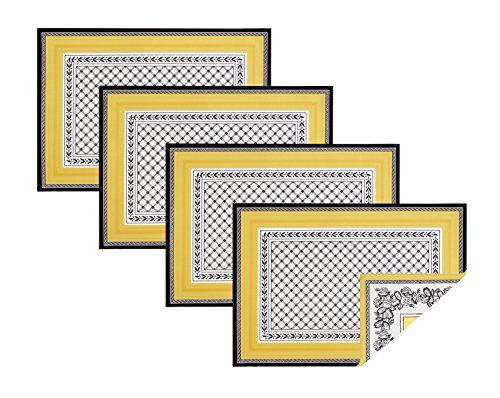 Villeroy & Boch Matches - Villeroy and Boch Audun Cotton Fabric Reversible Placemat (Set of 4), 14