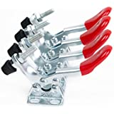 E-TING® New 4PCS Hand Tool Toggle Clamp 201A Antislip Red Horizontal Clamp 201-A