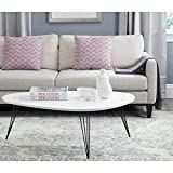 Cheap Safavieh Home Collection Wynton Mid-Century Modern White and Black Coffee Table