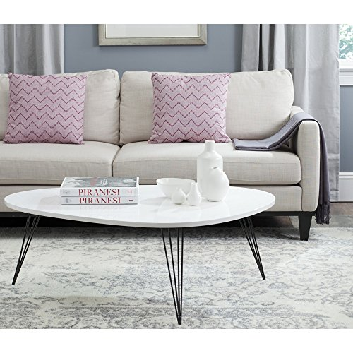 Safavieh Home Collection Wynton Mid-Century Modern White and Black Coffee Table 517BN7 j2WL
