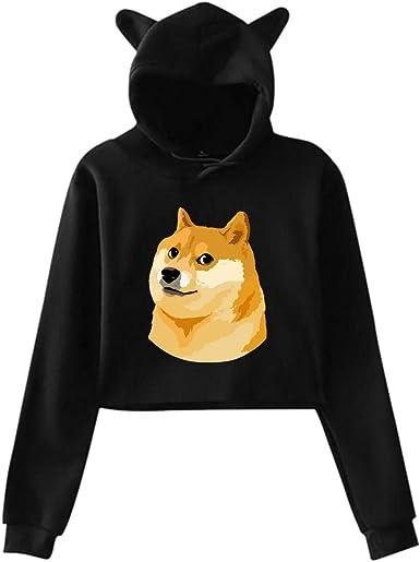 Dogecoin Womens Crop Hoodie