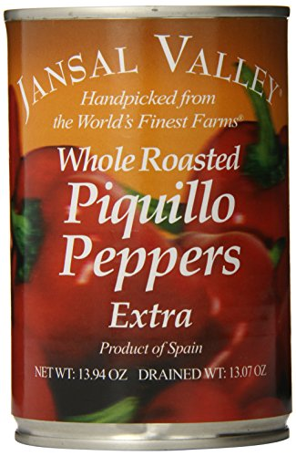 Jansal Valley Whole Roasted Piquillo Peppers, 13.94 Ounce