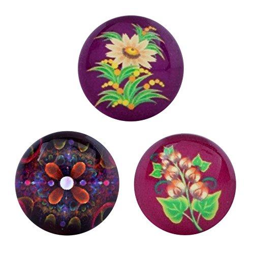 Morella click-button ® femme lot de 3 boutons pression pour bijou femme motifs fleurs lilafarbene