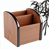 Autumn Water Creative mini wood file holder case commercial office home pen storage photo container