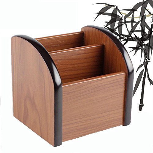 Autumn Water Creative mini wood file holder case commercial office home pen storage photo container by Autumn Water