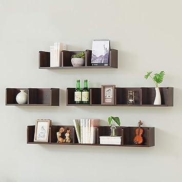 Schwebendes Regal Aus Massivholz Für Wohnzimmer Tv Wandhalterung