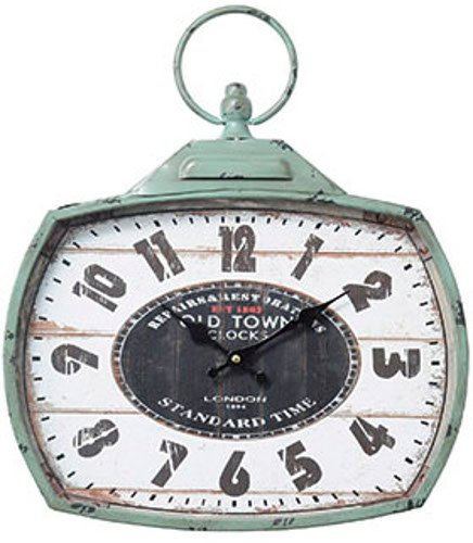 PASEO 時計 アンティークスクエアクロック グリーン 14-12GR B076WTP5KK グリーン グリーン