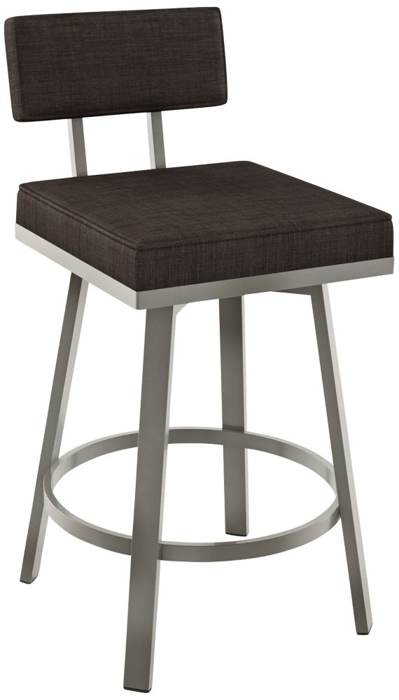 Outstanding Amisco Staten Swivel Bar Stool In Glossy Grey Finish Bralicious Painted Fabric Chair Ideas Braliciousco