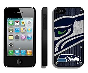 Seattle Seahawks (3) Black Abstract Design Custom iPhone 4S Case