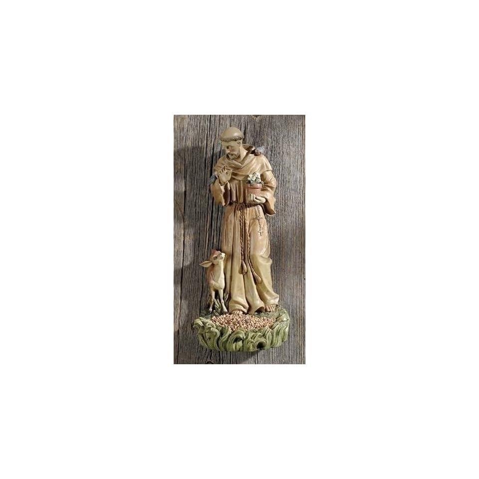 12 Josephs Studio Saint Francis Bird Feeder Outdoor Garden Figure Statue