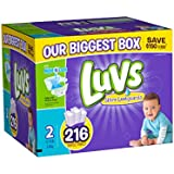 Luvs With Ultra Leakguards Diapers, Size 2, 216 Count (One Month Supply)