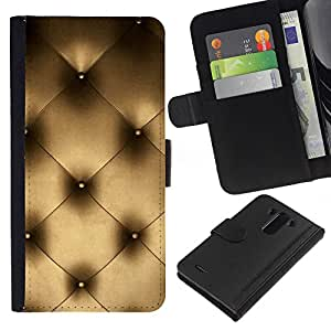 KLONGSHOP // Tirón de la caja Cartera de cuero con ranuras para tarjetas - Arte Couch Pared Interior Design Platinum Bling - LG G3 //