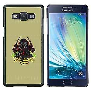 TECHCASE---Cubierta de la caja de protección para la piel dura ** Samsung Galaxy A5 ( A5000 ) 2014 Version ** --Samurai Warrior
