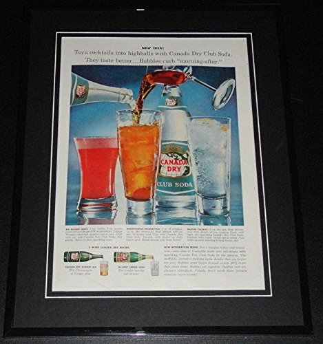 1959 Canada Dry Club Soda 11x14 Framed ORIGINAL Vintage Advertisement Poster from HollywoodMemorabilia
