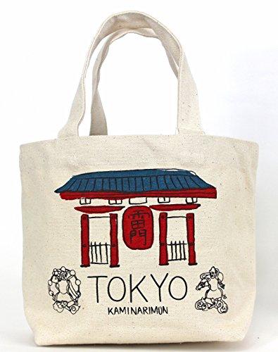 Bolsos totes/Mini bolsa de mano / Bolsillo interior TOKYO / Kaminarimon Asakusa natural / NarumiKK Narumi