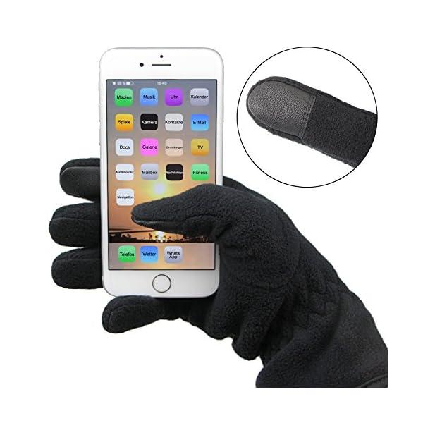 ALPIDEX Guantes de Lana con Thinsulate Guantes de Dedo con función de Tacto Unisex de Relleno Thinsulate 12