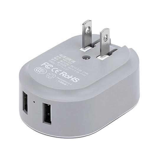 whitelotous Universal portátil USB doble puerto luz nocturna ...