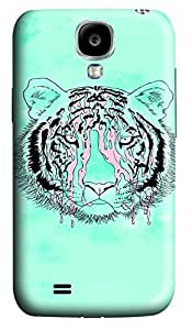 S4 Case, Samsung S4 Case, Customized Protective Samsung Galaxy S4 Hard 3D Cases - Personalized Fluorescence Green Tiger Cover by icecream design