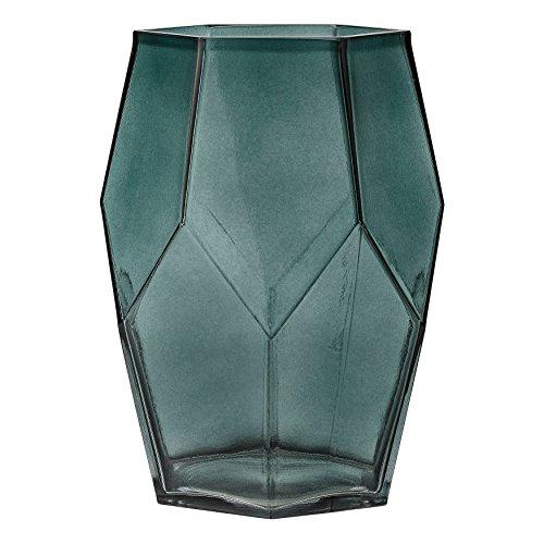 Bloomingville A23600019 Green Geometric Glass Vase