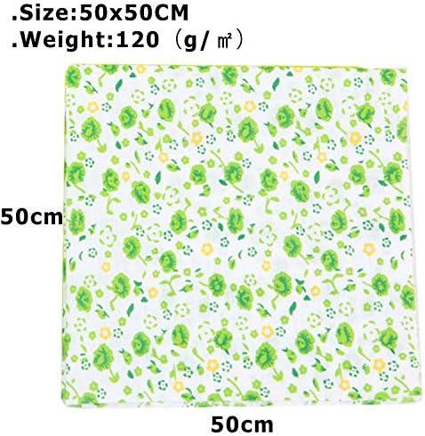 black 9,9 x 9,9 mit Blumenmuster Baumwolle f/ür Craft Quilting Sewing DIY Artcraft 7pcs 25 * 25cm // Muster-Patchwork-Stoff-Bundles