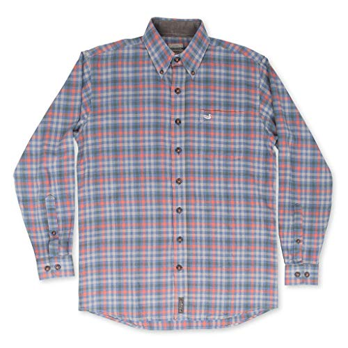 Southern Marsh Crossville Flannel Navy and Orange