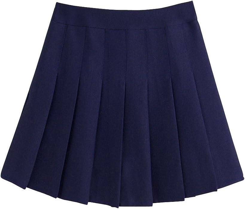 f5f05ef5f8 ShiFan Mujeres Falda Tenis Plisada Cintura Alta Uniforme Escolar Mini Faldas